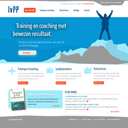 Logo en Homepage modern Training en Coachingbedrijf